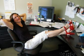 Karen Handelman is the elegantly shod CEO of 501 Creative the driving force behind my favorite web design company.